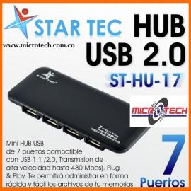 Hub Multiplicador 7 Puertos Usb, Star Tec Hu-17