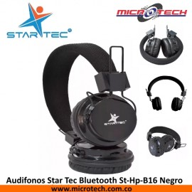 Audifonos Star Tec Bluetooth St-Hp-B16 Negro