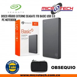 DISCO RÍGIDO EXTERNO SEAGATE 1TB BASIC USB 3.0 PC NOTEBOOK