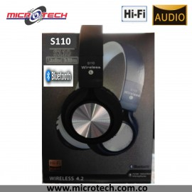 AUDIFONO   WIRELESS S110 BLUETOOTH TARJETA SD