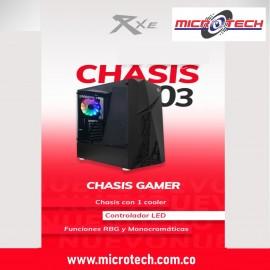 Case Gamer Negro Pc Atx / Microatx Vidrio Rxe 03
