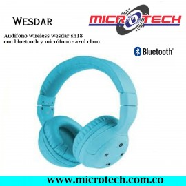 Audífono wireless wesdar sh18 con bluetooth y micrófono